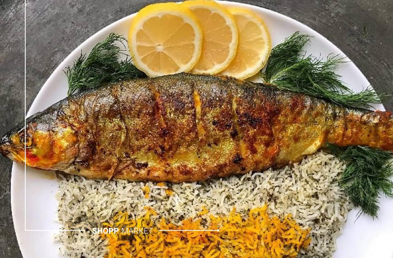 سبزی پلو با ماهی عید